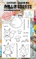 No. 288 Foxy Friends Aall and Create A6 Stamp