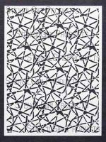 Fractured Glass Stencil designed by Mary Beth Shaw for Stencil Girl (9 inch by 12 inch)