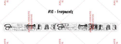 Fragments (no. 10) 25mm thick washi tape by Tracy Evans for Aall and Create (AALWT010)