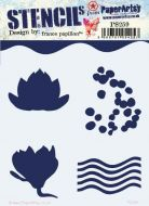 France Papillon 259 Regular sized Stencil (PS259) for PaperArtsy