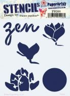 France Papillon 260 Regular sized Stencil (PS260) for PaperArtsy