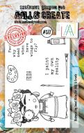 Frida Aall and Create A7 Stamp Janet Klein 377 (AAL00377)
