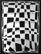 Fun House Checks Stencil (L399) designed by Suzi Dennis for StencilGirl (9 inch by 12 inch)