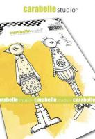 Funky Ducks Cling Stamp A6 for Carabelle Studio by Kate Crane (sa60517)