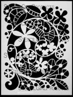 Garden Swirl Stencil designed by Terri Stegmiller for Stencil Girl (9 inch by 12 inch)