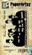 Gentlemen Plate 3 (G3EZ) PaperArtsy Collections Vintage Stamps