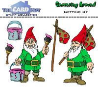 Gnome Getting By a6 clear stamp set from Card Hut
