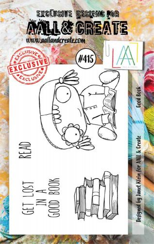 Good Book No. 415 Aall and Create A7 sized stamp by Janet Klein (AAL00415)