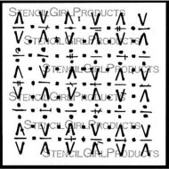 Glyph Grid Grunge Marks Collection by Seth Apter for StencilGirl (S884)