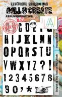 Grungy Alphabet No. 397 Aall and Create A5 sized stamp by Tracy Evans (AAL00397)