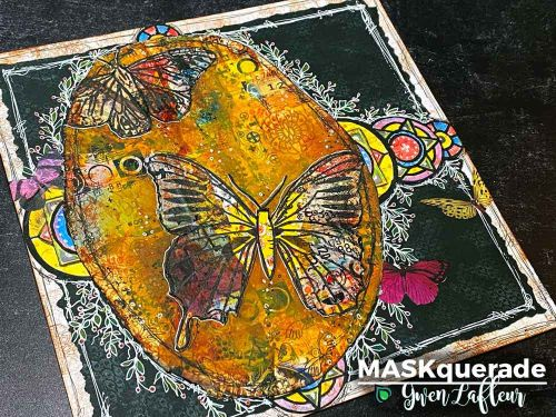 Tuition Fee - MASKquerade Online Mixed Media Class - Gwen Lafleur (24th October, 4pm UK Time) (USE CODE 'MASK' if purchasing Class Only with No Product)