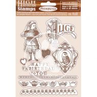 HD Natural Rubber Stamp 14x18 cm - Happy Birthday Alice by Stamperia (WTKCC203)