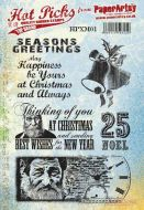 Hot Picks Christmas 01 (HPXM01) PaperArtsy Unmounted A5 Rubber Stamp Set