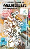 PRE-ORDER EXPECTED DESPATCH 16 APRIL Hexagons and Buds no. 128 A6 stencil by Bipasha BK for Aall and Create (AAL10128)