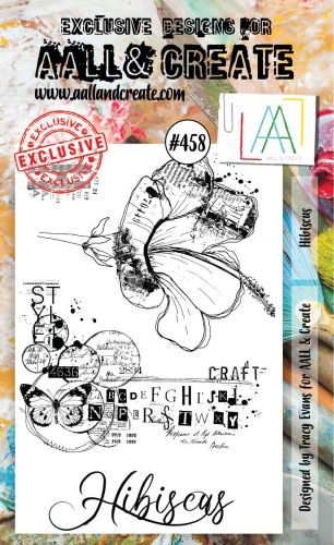 Hibiscus No. 458 Tracy Evans Aall and Create A6 Stamp Set