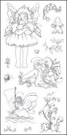 CS050D Hobby Art Stamps - Fairy Girls