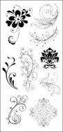 CS053D Hobby Art Stamps - Flourishes