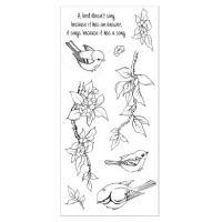 CS065D Hobby Art Stamps - Birdsong
