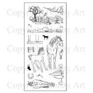 CS096 Hobby Art Stamps - Horses