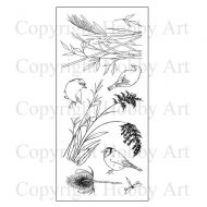 CS098D Hobby Art Stamps - Birds and Grasses