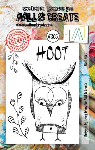 No. 305 Hoot Hoot Aall and Create A7 Stamp