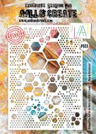 No. 108 Hugely Hexagonal Stencil (A4) by Autour De Mwa for Aall and Create
