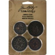 "Idea-Ology Metal Compass Coins 1.25"" & 1.5"" 4/Pkg (TH93061)"
