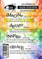 Imagine Dream Inspire Create stamp set