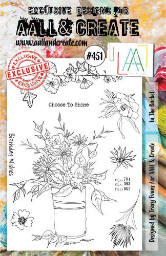 In the Bucket No. 451 Tracy Evans Aall and Create A5 Stamp Set