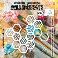Interconnect (No. 106) 6 inch by 6 inch sized stencil by Autour de Mwa for Aall and Create (AAL10106)