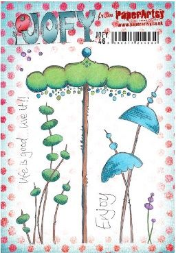 JOFY46 A5 Cling Rubber stamp set