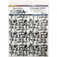 "Just Words Dina Wakley Media Collage Tissue Paper 7.5""X10"" (MDA74618) 20/Pkg"