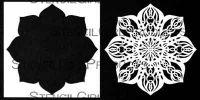 Kaleidoscope 2 Magic Dahlia Stencil with Mask Stencil (S877) designed by Traci Bautista for StencilGirl 6 inch by 6 inch