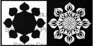 Kaleidoscope 3 Playful Starflower Stencil with Mask Stencil (S878) designed by Traci Bautista for StencilGirl 6 inch by 6 inch
