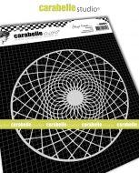 Kaleidoscope No. 3 by Birgit Koopsen for Carabelle Studio (MARO60016) - Mask Round 6 inch