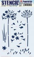 Kay Carley 263 Agapanthus Large sized Stencil (PS263) for PaperArtsy