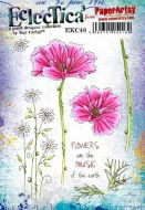 Kay Carley 48 Cosmos and Daisies A5 Cling Rubber Stamp Set (EKC48) for PaperArtsy