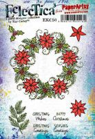 Kay Carley 50 (EKC50) PaperArtsy A5 sized Cling Rubber Stamp Set