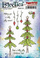 Kay Carley 51 (EKC51) PaperArtsy A5 sized Cling Rubber Stamp Set
