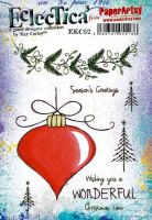 Kay Carley 52 (EKC52) PaperArtsy A5 sized Cling Rubber Stamp Set