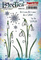 Kay Carley 53 (EKC53) PaperArtsy A5 sized Cling Rubber Stamp Set