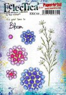 Kay Carley A5 size PaperArtsy Cling Rubber Stamp Set (No. 44) - EKC44
