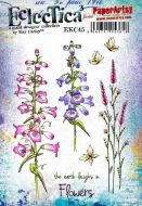 Kay Carley A5 size PaperArtsy Cling Rubber Stamp Set (No. 45) - EKC45