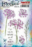 Kay Carley A5 size PaperArtsy Cling Rubber Stamp Set (No. 46) - EKC46