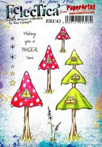 E Kay Carley Paperartsy A5 Cling Rubber Stamp Set (EKC43)
