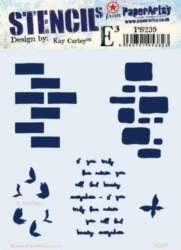 Kay Carley Regular PaperArtsy Stencil (No. 239) - PS239