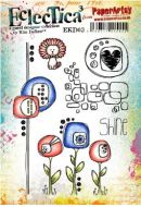 PaperArtsy - Kim Dellow Everything Art 03 (EKD03) A5 Cling Rubber stamp set