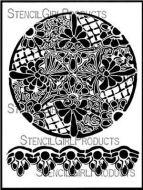 Lattice Medallion 9 inch by 12 inch Stencil (L712) by Kristie Taylor for StencilGirl