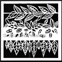 Leafy Doodle Verge designed by Valerie Sjodin for Stencil Girl (6 inch by 6 inch)