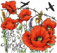 Lest we Forget P6 Clear Stamp Set by Hobby Art (CS297D)